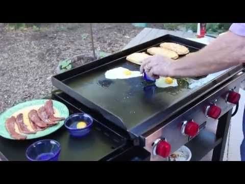 How To Cook Breakfast On The Flat Top Grill Cooking Breakfast Has Moved To A Whole New Level With This Ho Flat Top Grill Cooking On The Grill Griddle Recipes