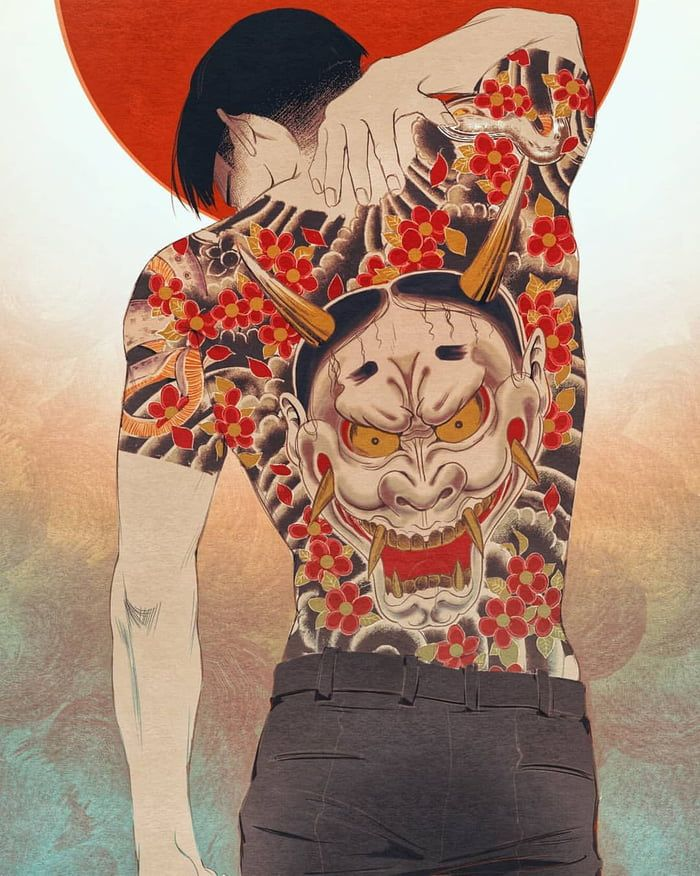 Hannya Tattoo (Majima Goro) Character art, Art, Yakuza anime