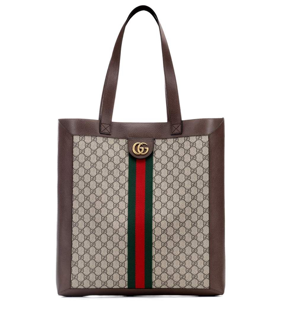 GUCCI Ophidia GG Supreme Large tote.  gucci  bags  hand bags  canvas  suede   tote  lining   38c03686358b
