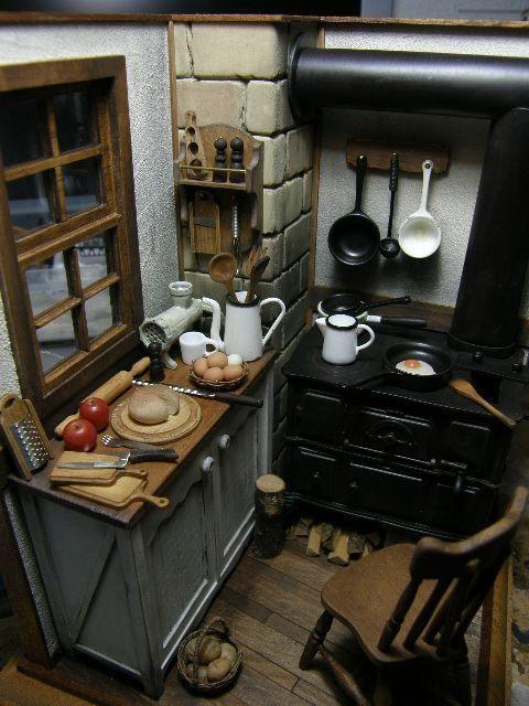 Keukentje miniature docksk p miniatyrer e hus for Imitazioni mobili design