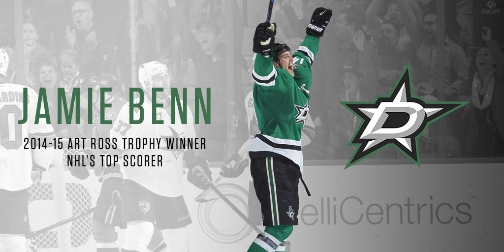 IT'S OFFICIAL!  @jamiebenn14 is 1st player in franchise history to win Art Ross trophy! READ:http://ow.ly/LuuMv