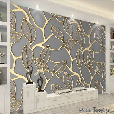 Vlies Fototapeten -wandtapeten Wandbilder Goldene Dreidimensionale