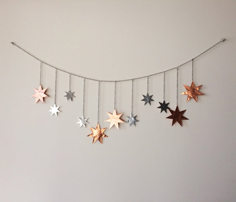 Stars Wall Decor Stars Wall Hanging Brass Stars Wall Art Stars Mobile Metal Stars Banner Stars Cosmic Wall Hanging Star Wall Art Stars Wall Decor Hanging Wall Decor