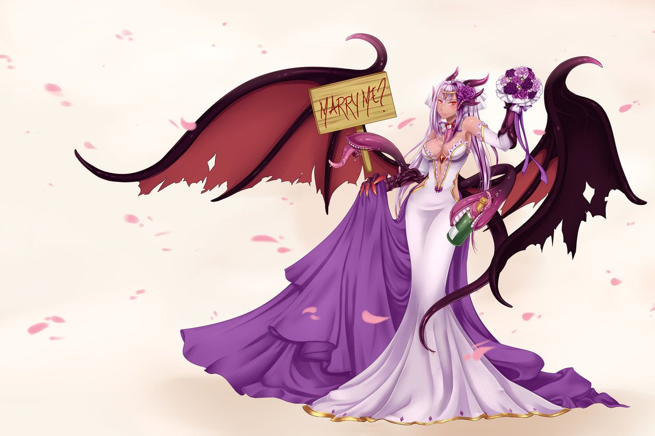 Family fun forbidden fruit pastebin - Commission For Jabberwock From Monster Girl Encyclopedia In Wedding Dress Her Mouth Thingies Are Fun To Work On Commission Info Commission Price Upda
