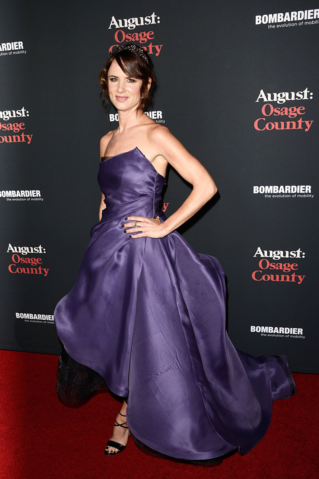 Juliette Lewis Wears Monique Lhuillier to the \'August: Osage County ...
