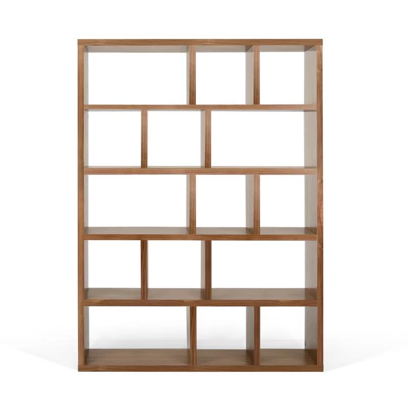 Allmodern Cadia Geometric Bookcase Bookcase Geometric All Modern
