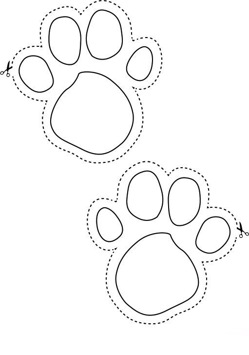 bunny feet template printable - bunny footprints to help the little ones find their easter