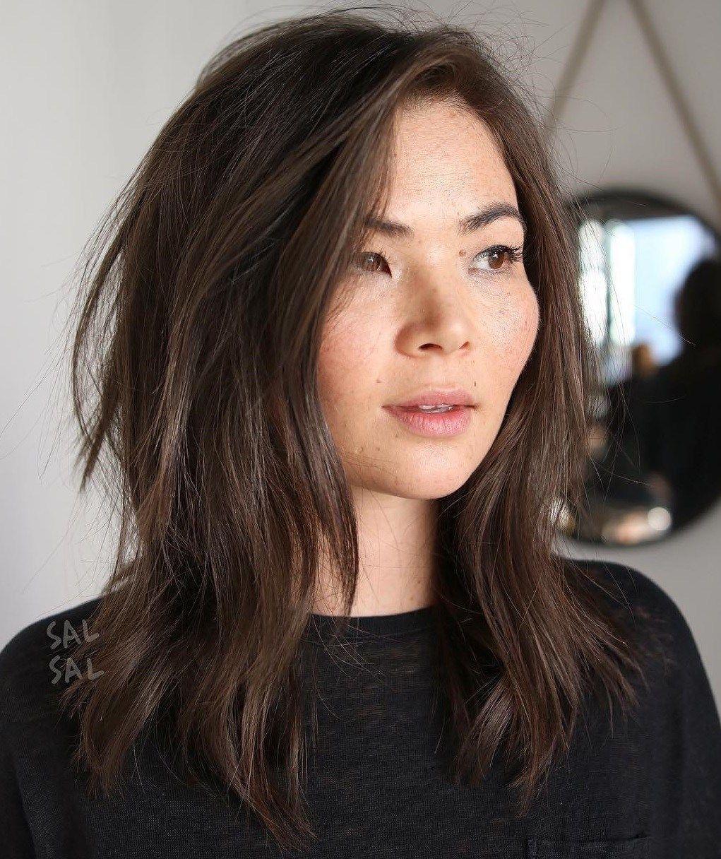 39+ Medium hairstyles for thin hair long face ideas