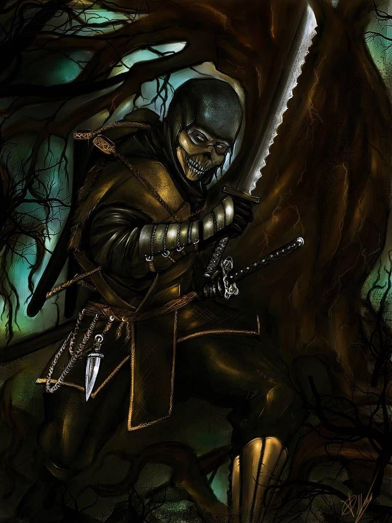 scorpion by Blackknight1987 on DeviantArt Mortal kombat