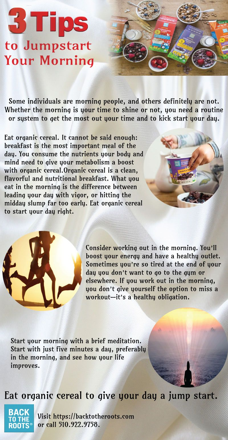 What you eat in the morning is the difference between leading your day with vigor, or hitting the midday slump far too early. Log on http://backtotheroots.com/
