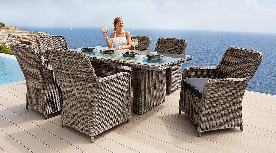 Gartenmobelset Korsika 13 Tlg 6 Sessel Tisch 200x100 Cm Polyrattan Natur Jetzt Bestellen Unter Https Gartenmobel Sets Polyrattan Sessel Gartenmobel