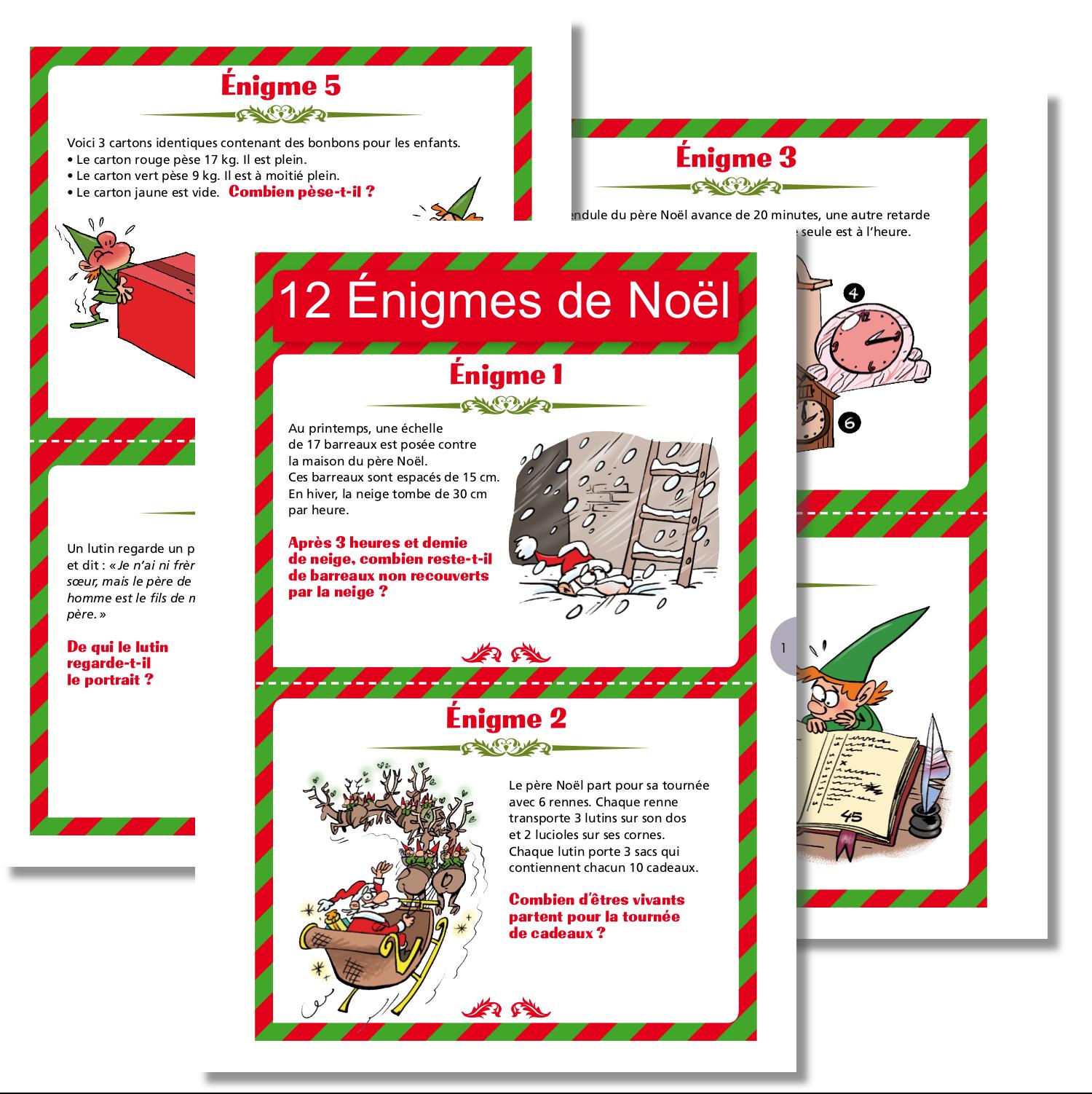 12 Enigmes De Noel Enigmes De Noel Noel Et Jeux Noel
