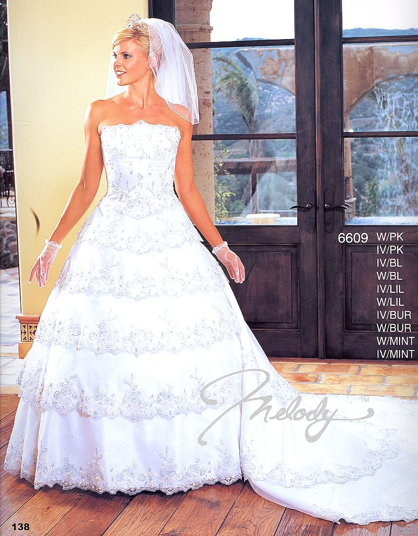 Wedding Gowns w/Detachable Train 6609 (Click picture for more ...
