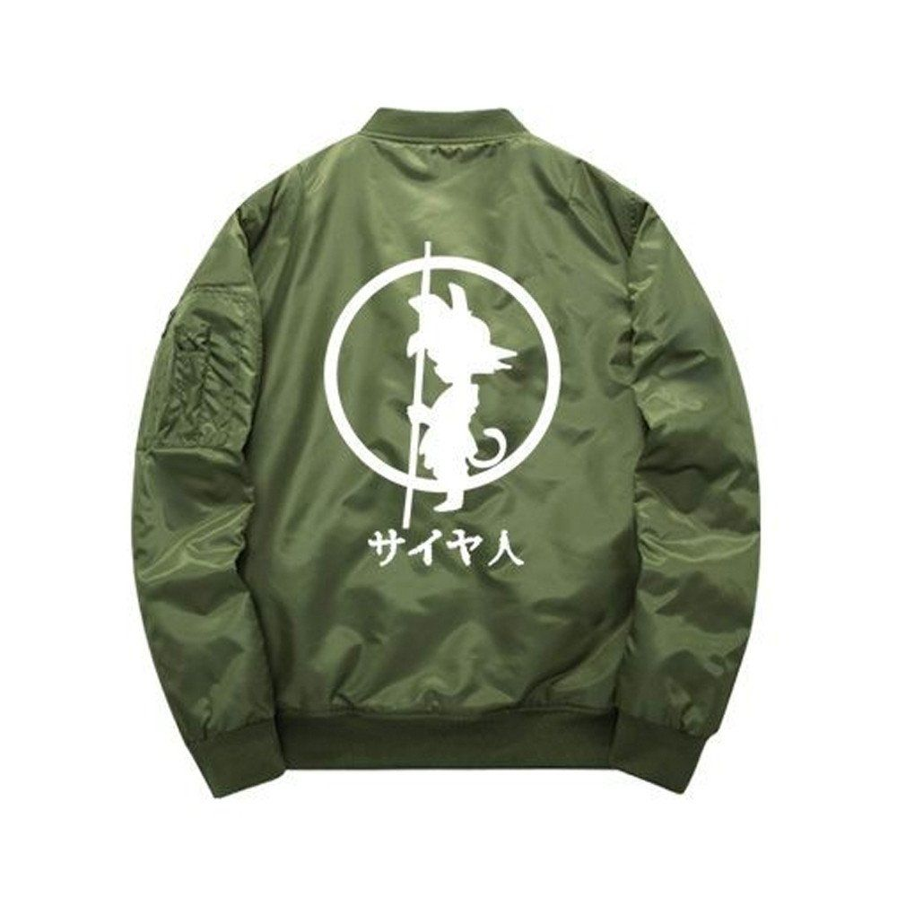 top fashion where to buy entire collection Green Dragon Ball Z Goku Bomber Jacket back view ...