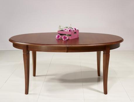 Table ovale de salle à manger Estelle en merisier massif de style - salle a manger louis