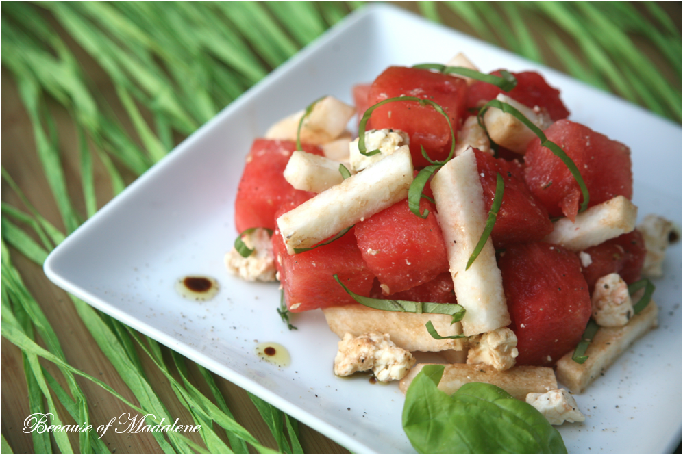 Because of Madalene: Watermelon Jicama Salad of Madalene: Watermelon Jicama Salad, blueberry and jicama arugula salad, Watermelon Feta Mint Salad Recipe  She Wears Many Hats.Read More About This Recipe  Click here