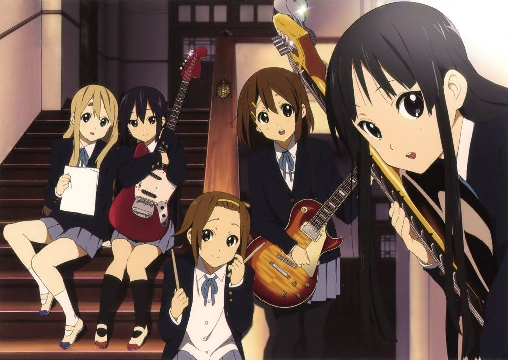 K On Music Band Group Members Anime Wallpaper Wallpaperish Anime Anime Characters Anime Wallpaper