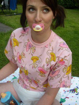 cosy n dry   ballerina print t shirt   adult baby clothing