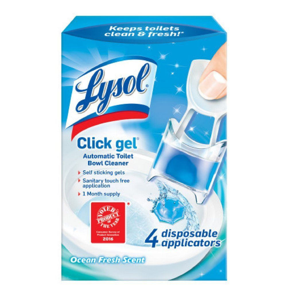 Lysol Automatic Toilet Bowl Cleaning Click Gel Ocean Fresh Scent 4 Count Pack Of 2 Remain To The Toilet Bowl Cleaner Toilet Bowl Clean Toilet Bowl