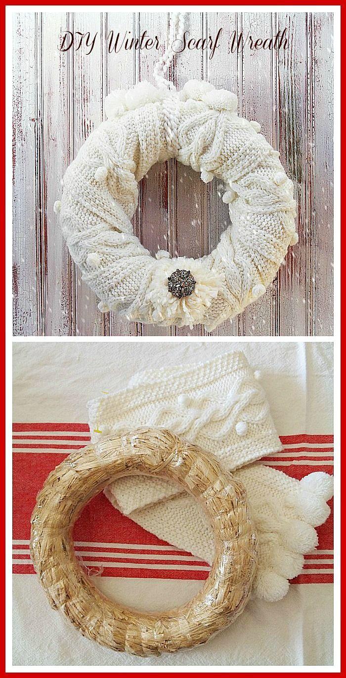 Photo of #repurpose #winter #wreath #scarf #super #into