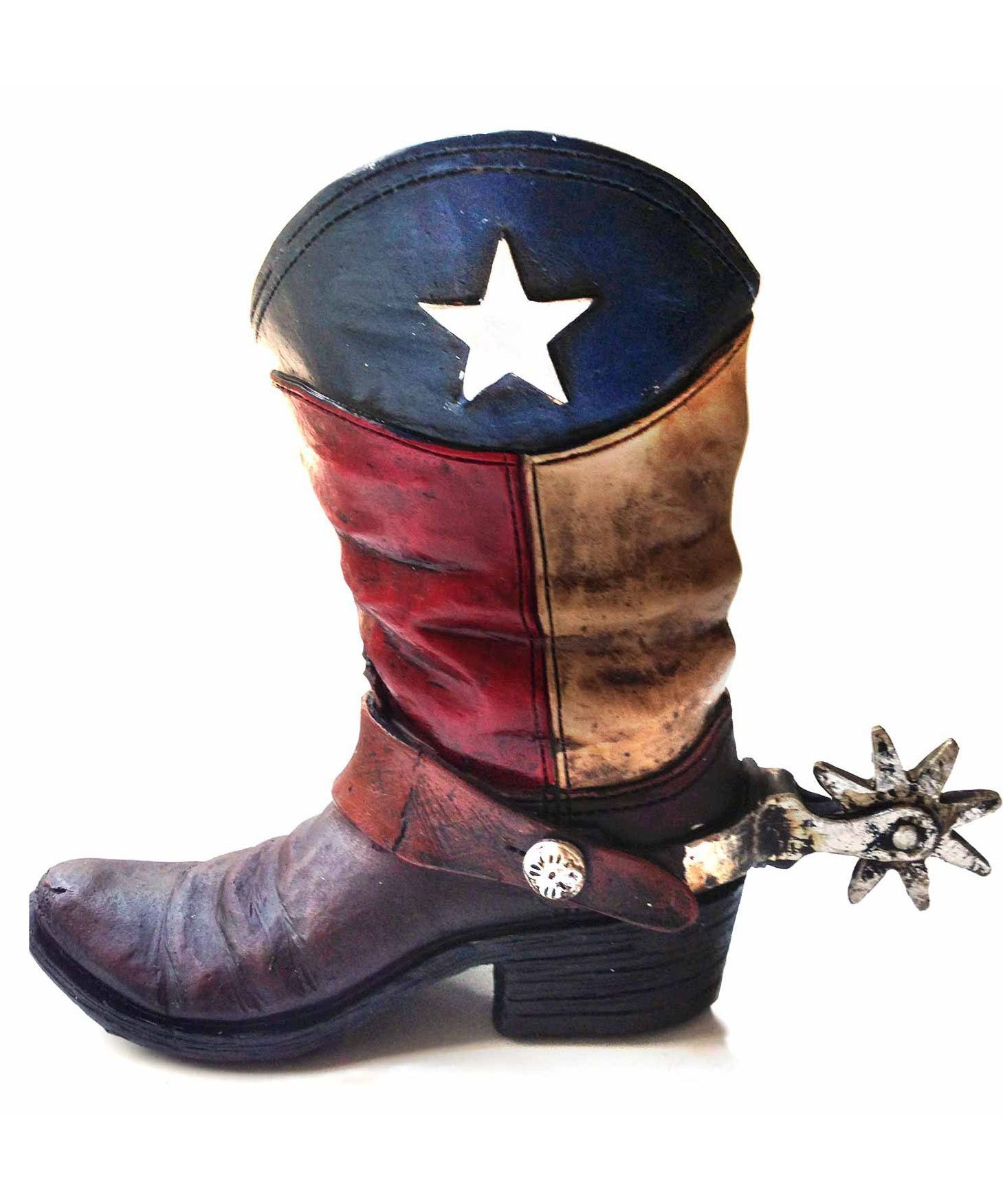 Texas Lone Star Cowboy Boot with Spur Piggy Bank | Boots