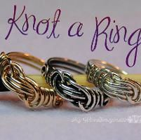 SALE! Knot a Ring - Wire Wrap Ring
