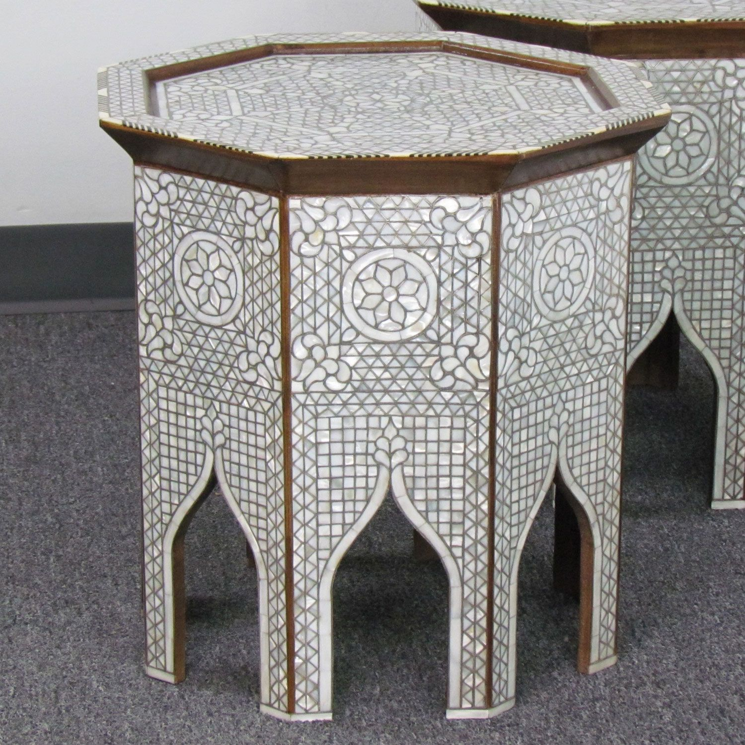 Style # 1633 Hand Inlaid Syrian / Moroccan Side Table