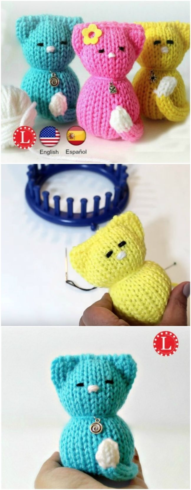 How To Loom Knit A Cat (Video Tutorial) | The WHOot