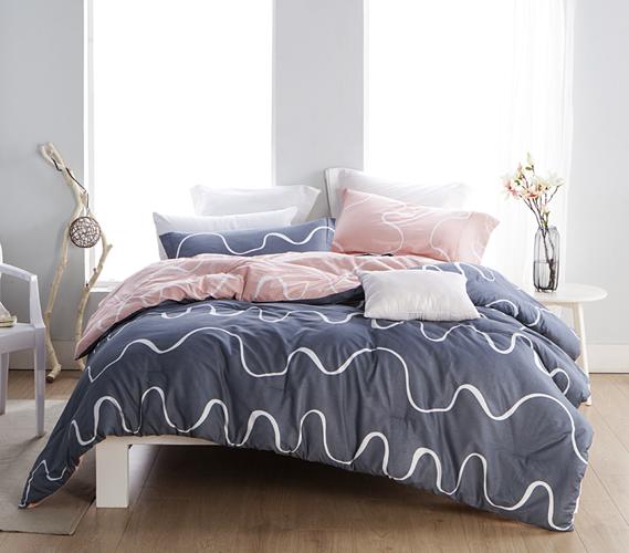 Reversible Twin Xl College Comforter Pink And Navy Dorm Room Comforters Dorm Bedding Twin Xl Dorm Bedding