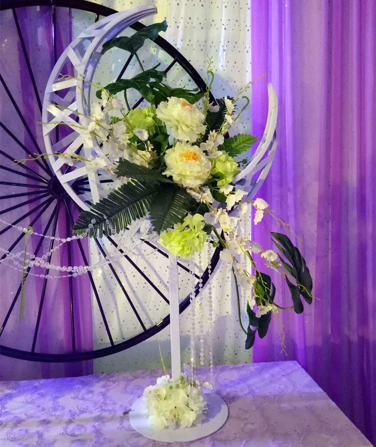 The new moon flower rack with lights road lead wedding decoration the new moon flower rack with lights road lead wedding decoration supplies t stage junglespirit Gallery