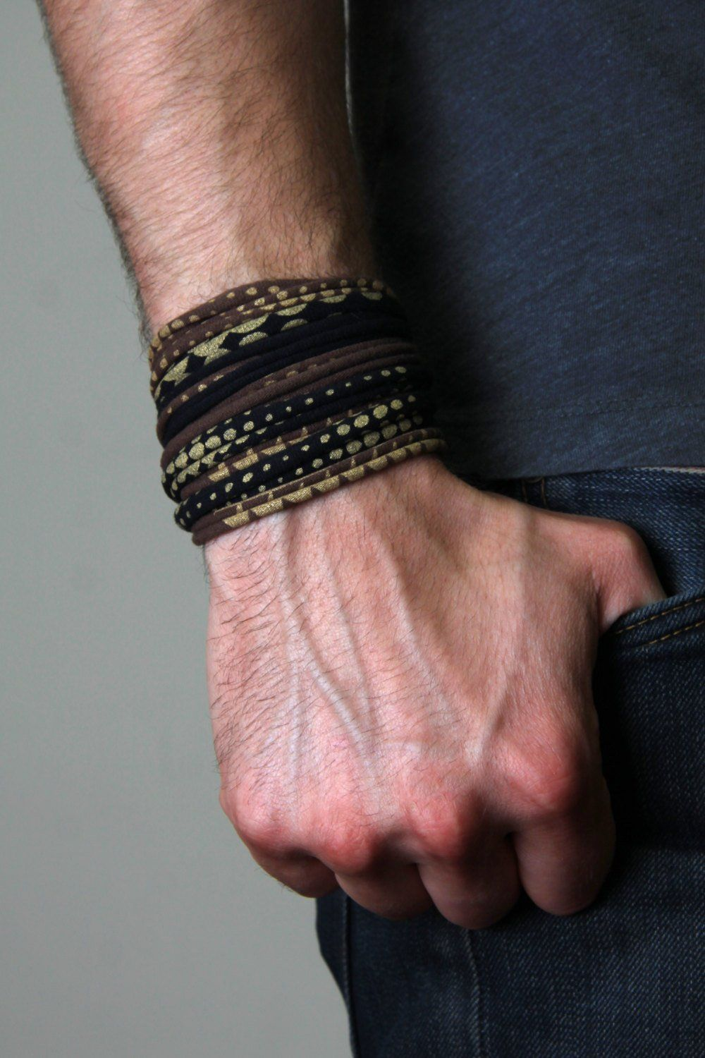 Brown black and gold wrap bracelet rings and things pinterest