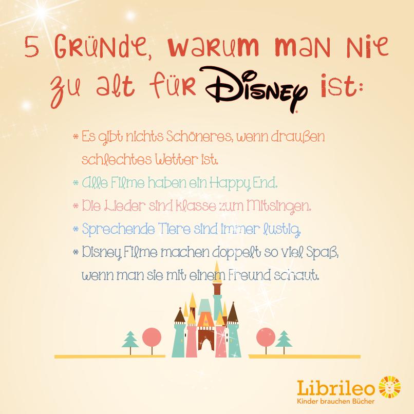 Disney Fünf Gute Gründe Warum Man Nie Zu Alt Dafür Ist Kinder