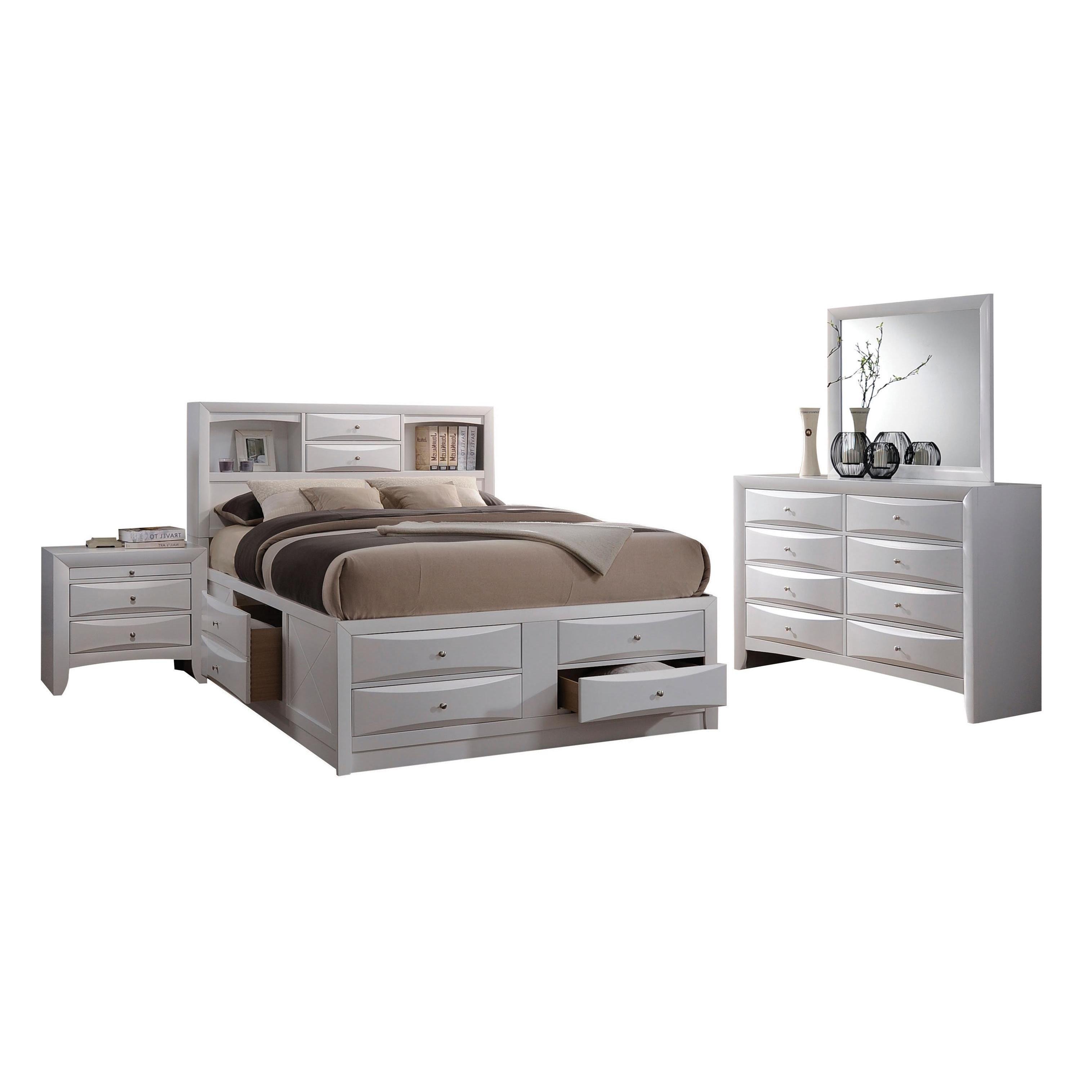 Acme Furniture Ireland 4Piece Storage Bedroom Set, White