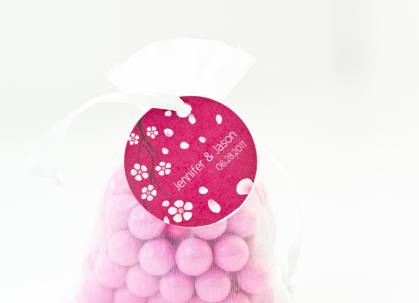 How sweet are these sixlets in an organza bag - perfect for spring ...
