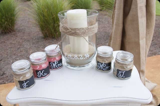 Mason Jar Sand Ceremony Set HIS HERS OURS By Hanscreations