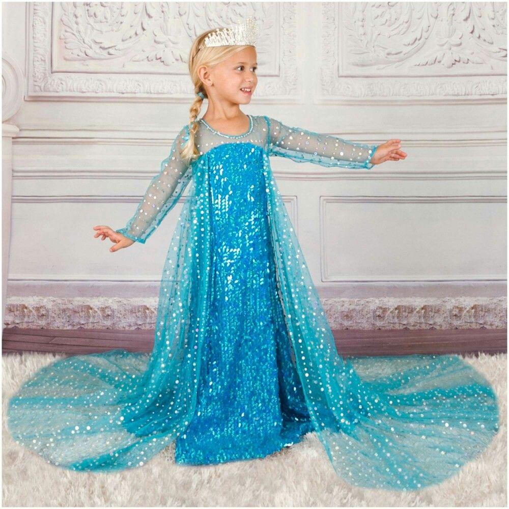 Pin de Tamera Turner en Princess Attire   Vestidos frozen niña, Vestido de  frozen, Disfraz frozen niña