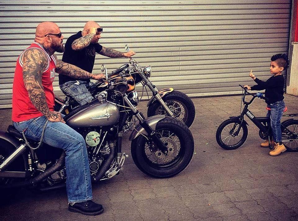Boss little kid taking on two bikers | Gearhead: Awesome Kids/Kid ...