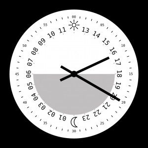 24 Hour Analog Clock Clock Face Printable Clock Printable