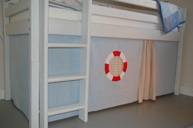 gardinen vorh nge piraten hochbettvorhang f r das spielbett ein designerst ck von. Black Bedroom Furniture Sets. Home Design Ideas