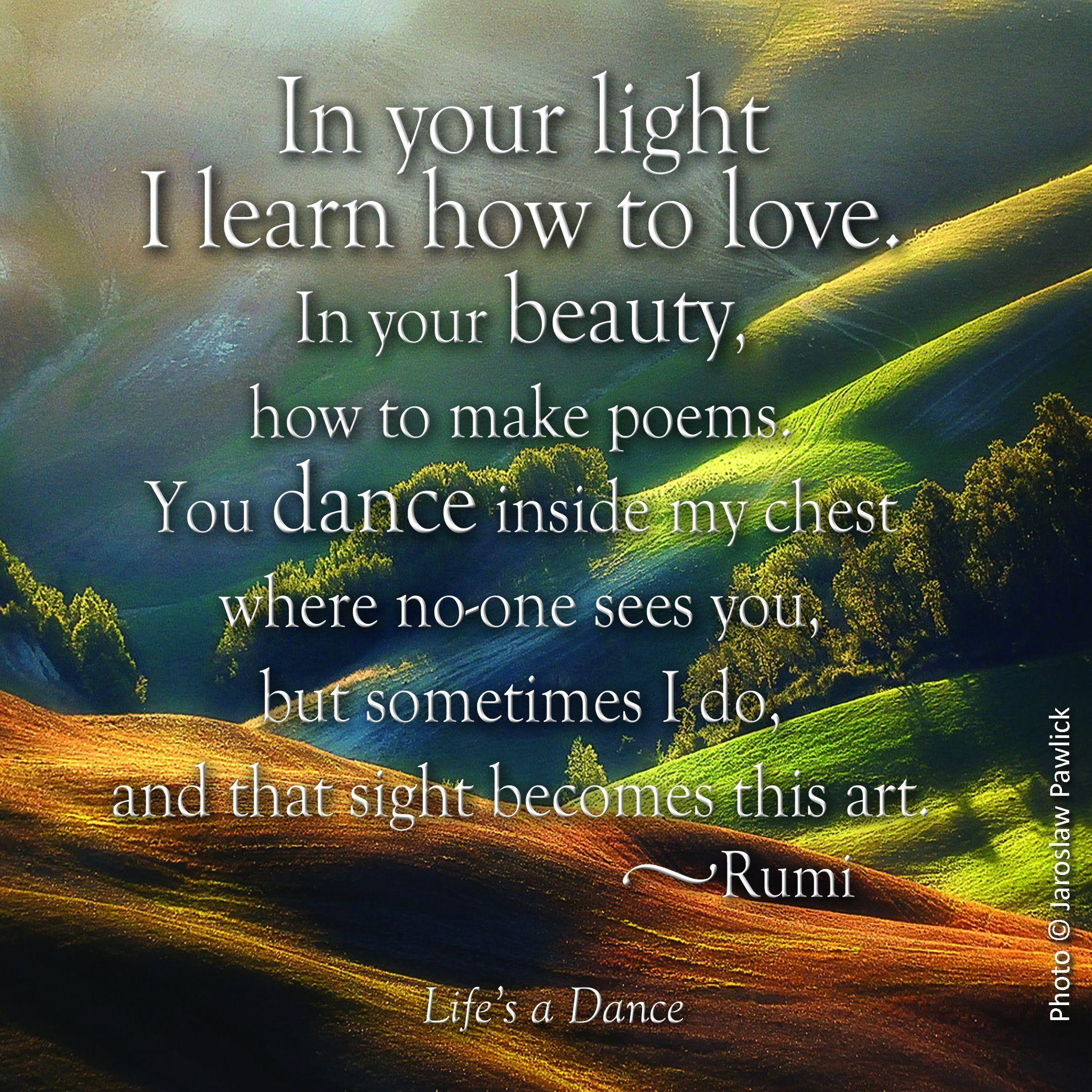 Rumi Dancing Through Raining Day Yet Feel The Rain Dropped Under
