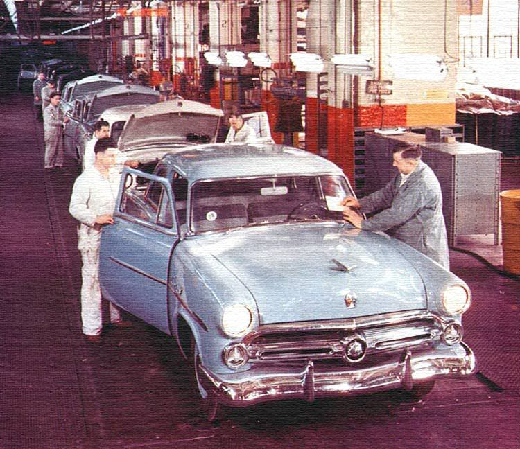 1950 Ford Assembly Line | Americana | Pinterest | Ford, Cars and ...