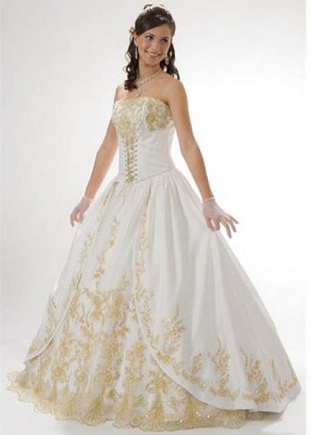 White And Gold Wedding Dress | Gold Wedding Dresses | Pinterest ...