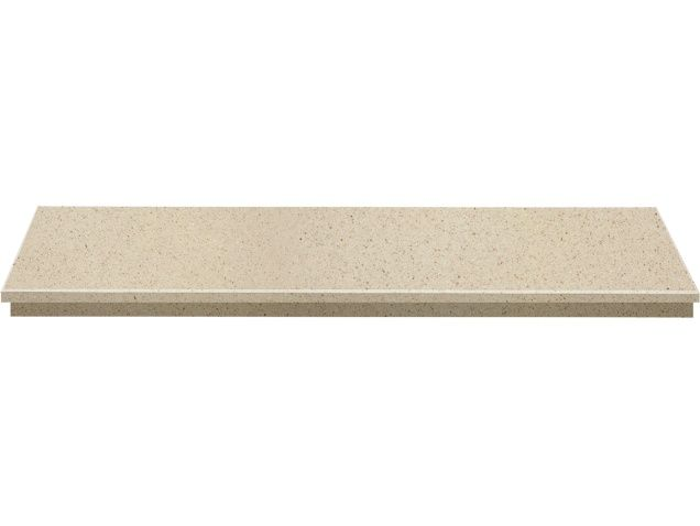 Fireplace Hearth in Marfil Stone, 48 Inch