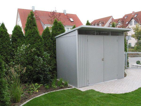 Abri de jardin Avantgarde double-portes Biohort en métal - De 4 à