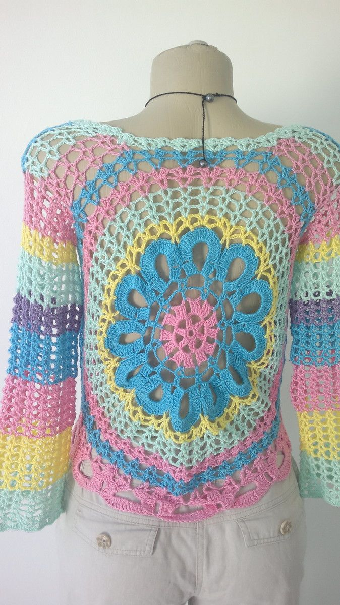 f34f481550 Blusa Mandala Colorida no Elo7