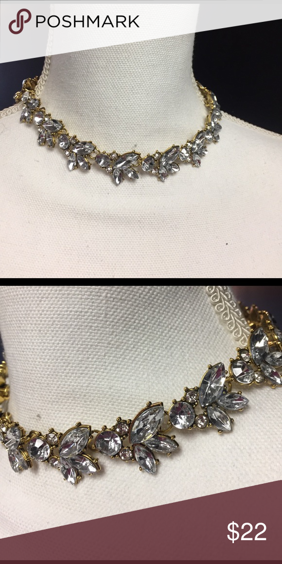 Gorgeous rhinestone silver gold necklace prom new Boutique | Prom ...
