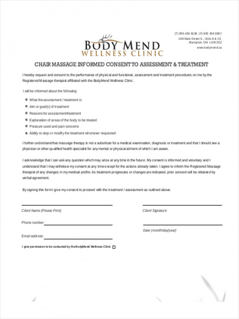 Browse Our Sample Of Massage Therapy Receipt Template Receipt Template Consent Forms Teacher Lesson Plans Template