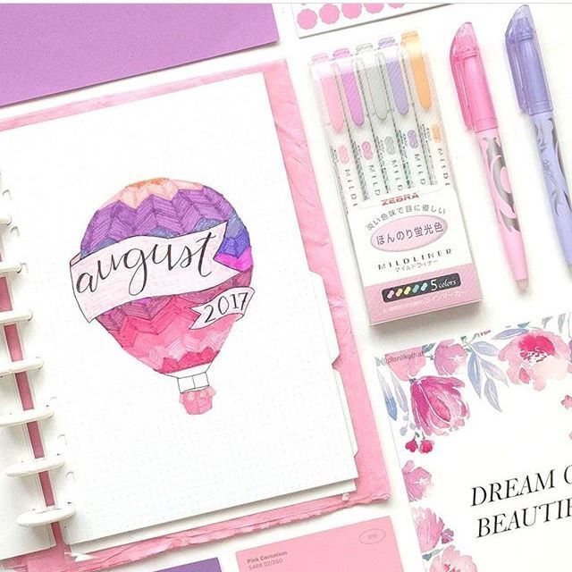 Beautiful Bullet Journal Monthly Cover Pages #augustbulletjournal