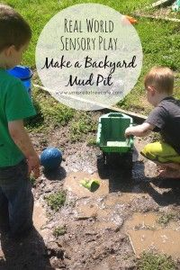 Making memories with your kids doesn't have to be complicated. Just add water to dirt and make a backyard mud pit