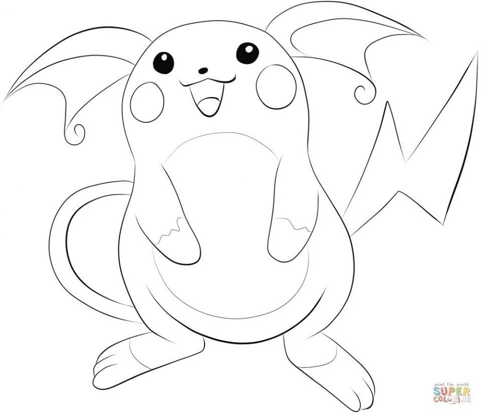 pokemon zum ausmalen raichu | kinder ausmalbilder